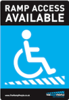 The Ramp People wheelchair access sticker