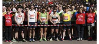 london marathon running runners
