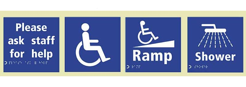 signs for disabled access