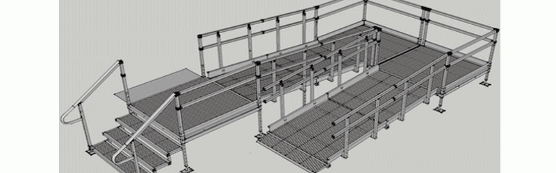 Health safety with modular access ramps the ramp for Prefab wheelchair ramp