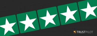 Five stars on Trust Pilot