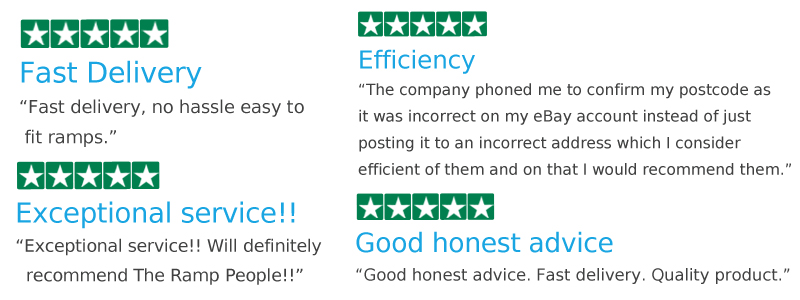 Example Trust Pilot reviews from our Trust Pilot page