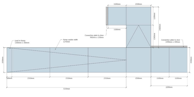 The Ramp People modular ramp technical drawing
