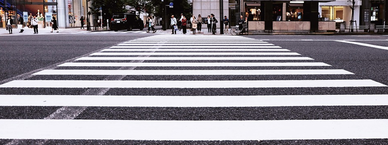 Zebra road crossing