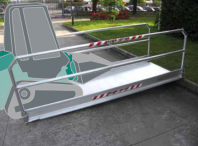Vehicle and Pedestrian Ramps with Handrails