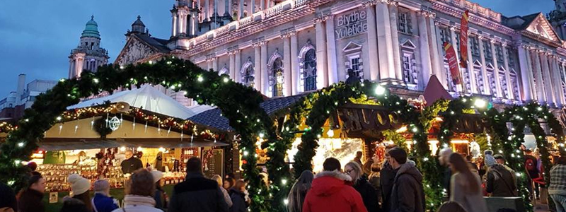 Belfast accessible Christmas Market is the centre of the beautiful city