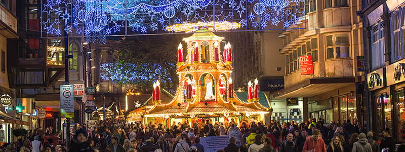 The Frankfurt Christmas market is an accessible Christmas market in Birmingham
