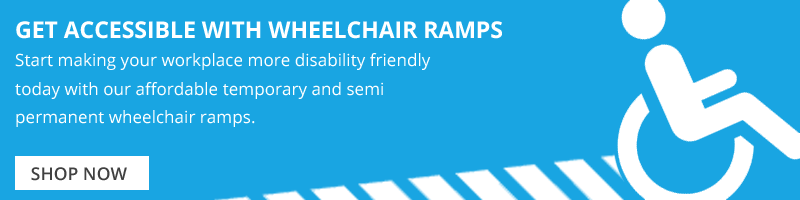 disability friendly workplaces with temporary wheelchair ramps from The Ramp People