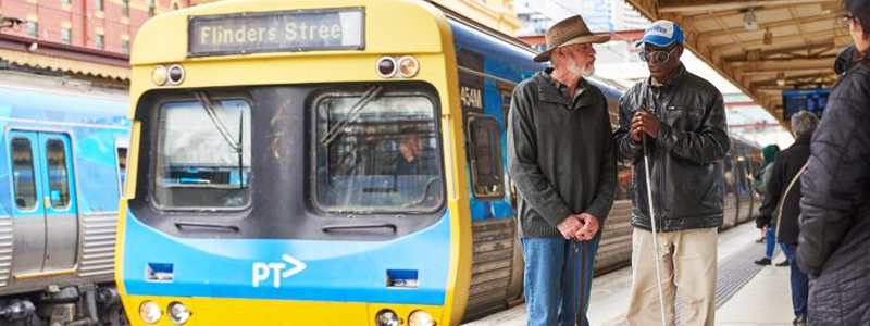 In Australia they are working to make the Southern Cross rail station in Melbourne more accessible for those with visual impairments