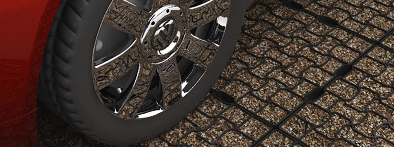 The TuffTrak GeoGrid cellular paving system
