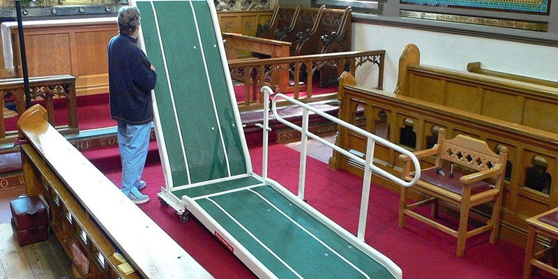 You can get mobile ramps with handrails as well as in a range of colours