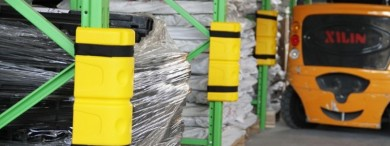 Improve warehouse safety with column and beam protectors for racking