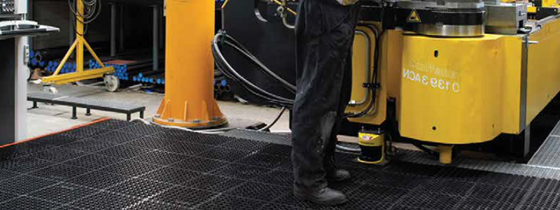 anti fatigue mats can make your warehouse safer for employees by reducing injury from standing and fatigue