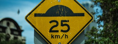 Speed bumps can be placed on public and private roads