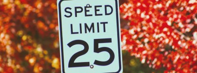 According to speed bump regulations you can only install speed rumps on 30mph roads or less