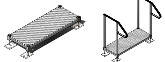 A single step that can be used with modular wheelchair ramps for homes