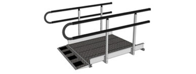 U shaped handrail endings for permanent wheelchair ramps uk