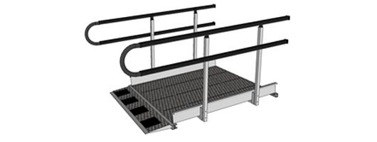 U shaped handrail endings for permanent wheelchair ramps uk