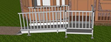 Balustrade handrails for modular wheelchair ramps uk