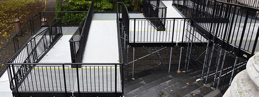 Platforms help make modular wheelchair ramps perfect for any space no matter how small