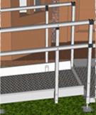 modular wheelchair ramp systems double handrails