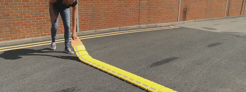 Portable speed bumps are perfect for school safety