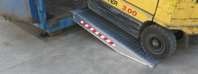 Forklift ramp