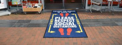 social distance covid-19 mat