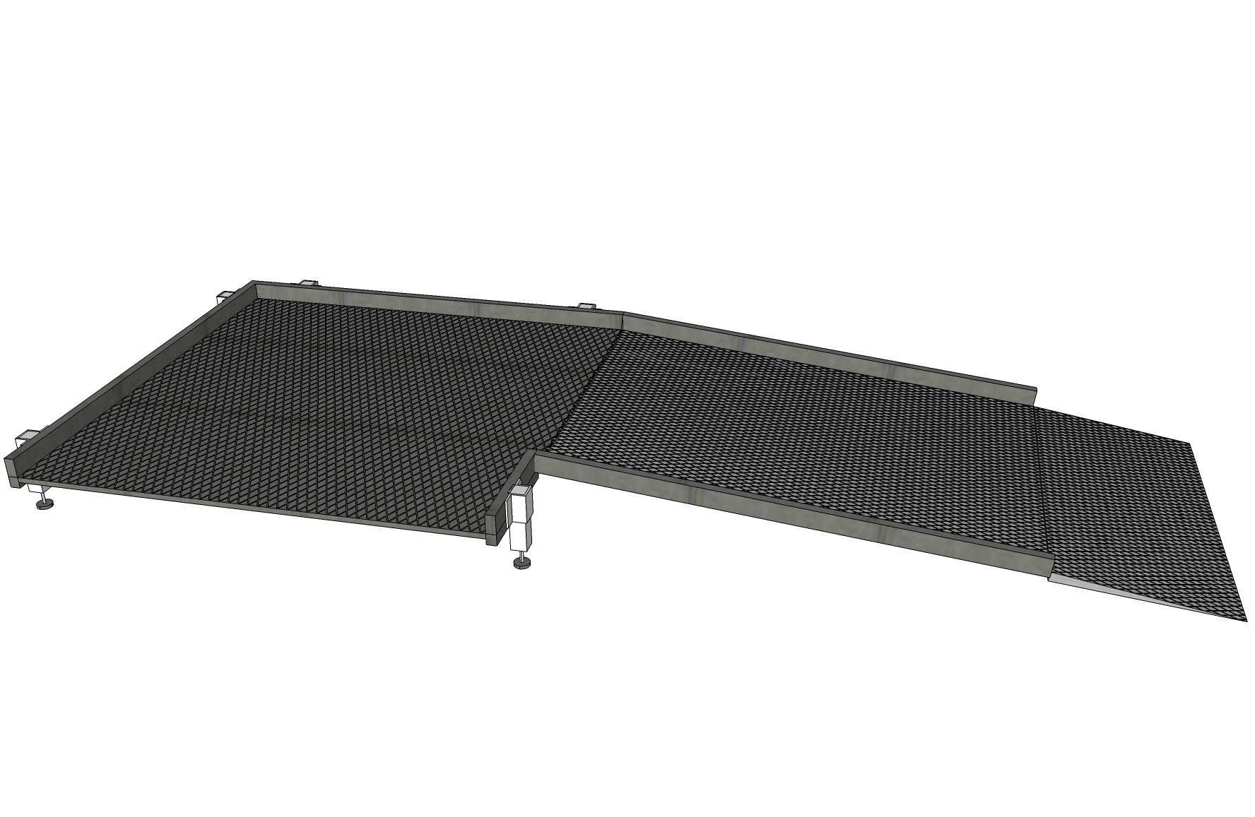 900mm Wide Ramp System without Handrails