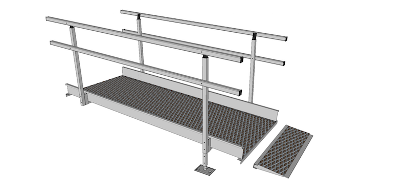 1500mm Wide Modular Ramp Parts