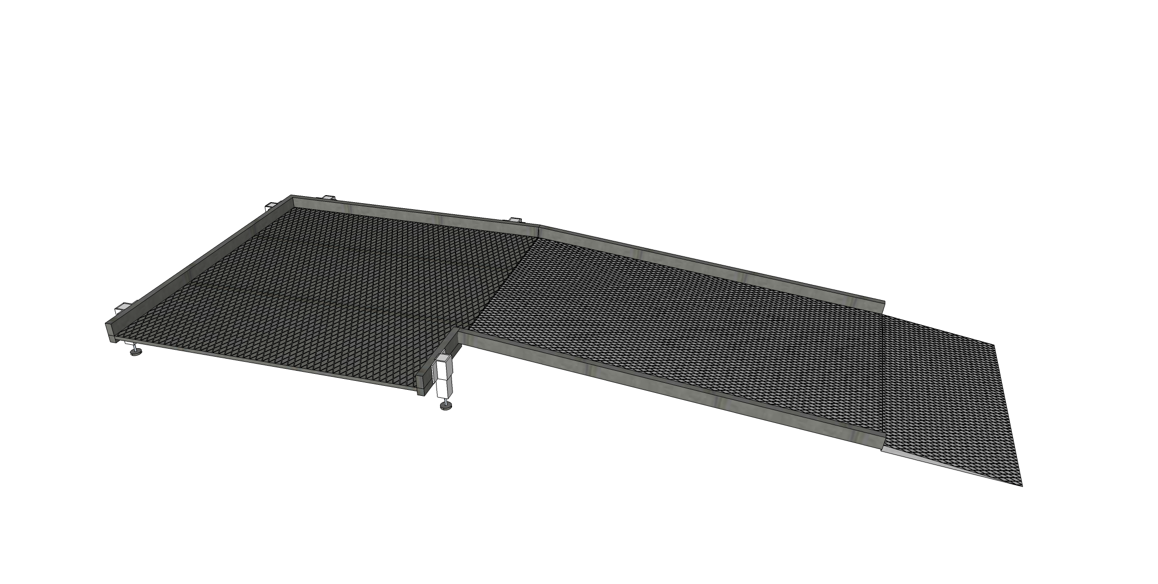 1300mm Wide Ramp System without Handrails