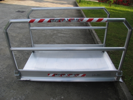 Pedestrian and Vehicle Ramps with Handrails