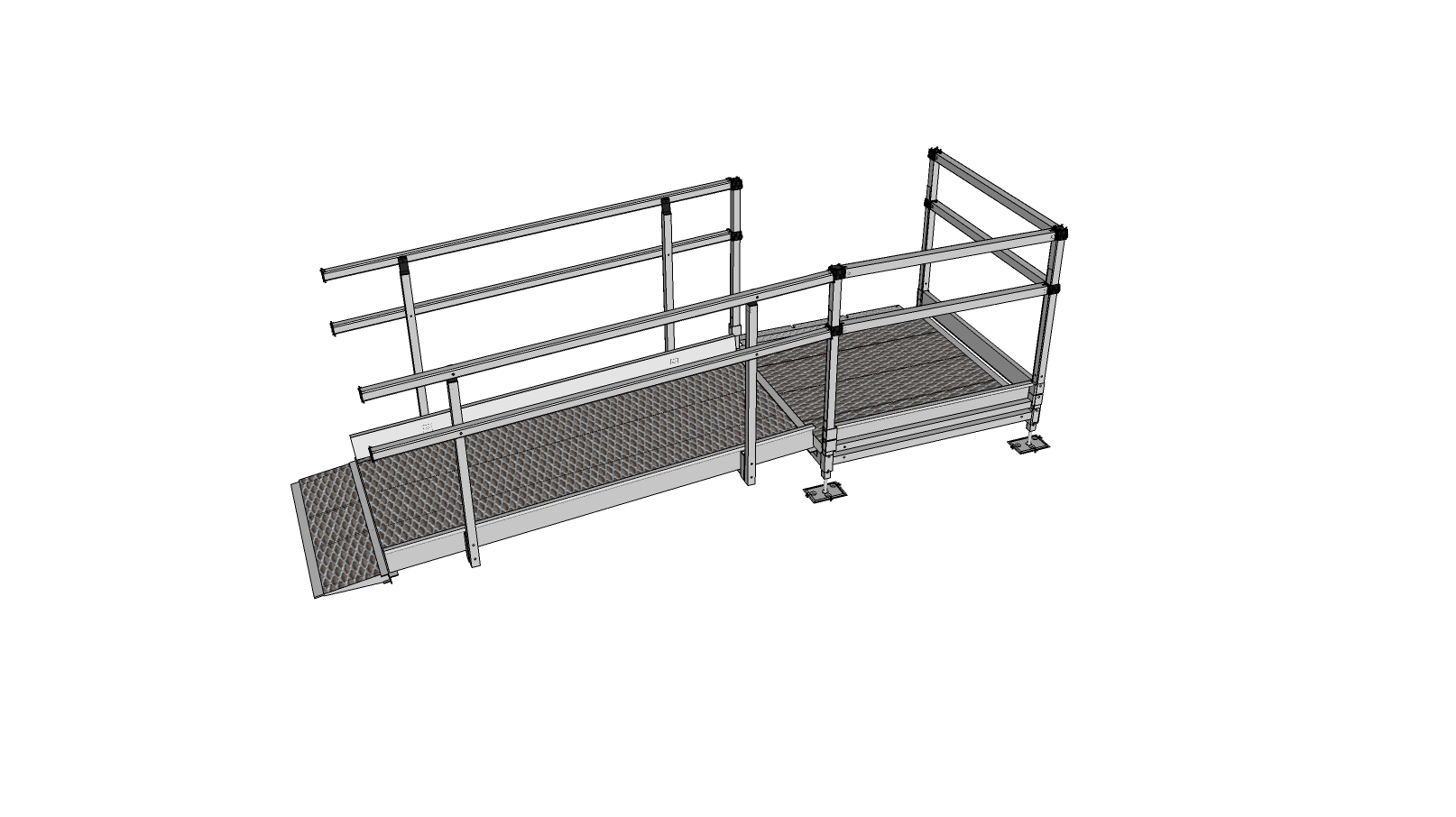 Modular wheelchair ramps modular disabled ramps for Prefab wheelchair ramp