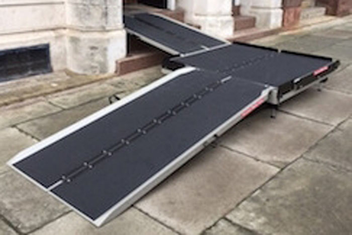 Portable Platforms for Wheelchair Ramps