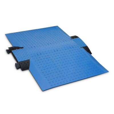 Wheelchair ramp cable protector fully assembled