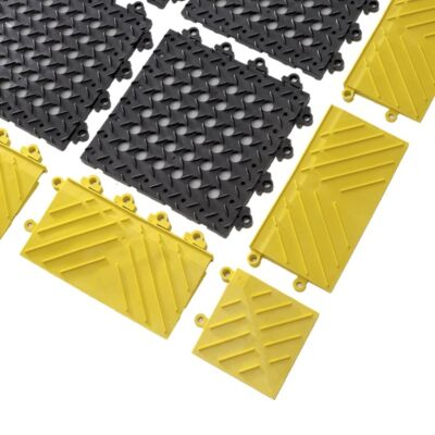 Anti-fatigue mat pieces suitable for wet areas