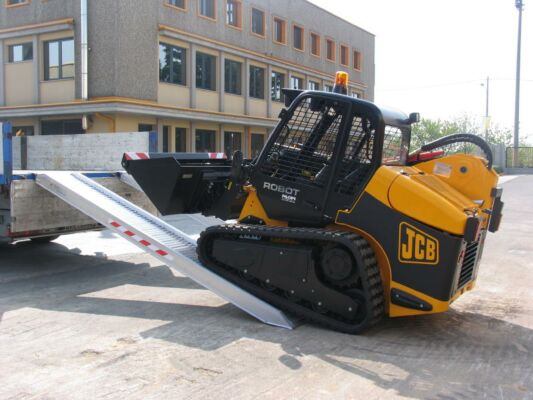 Plant machinery driving on to ramps