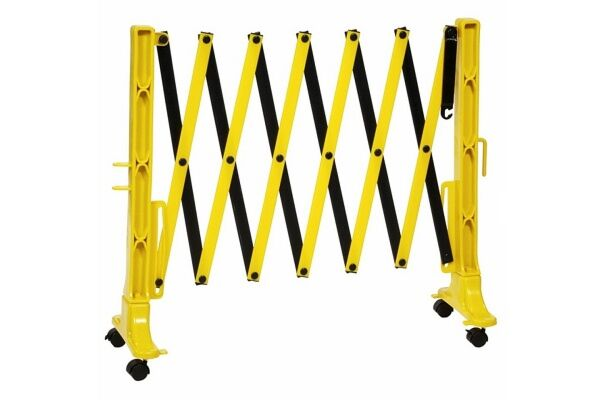 Portable barrier in black and yellow