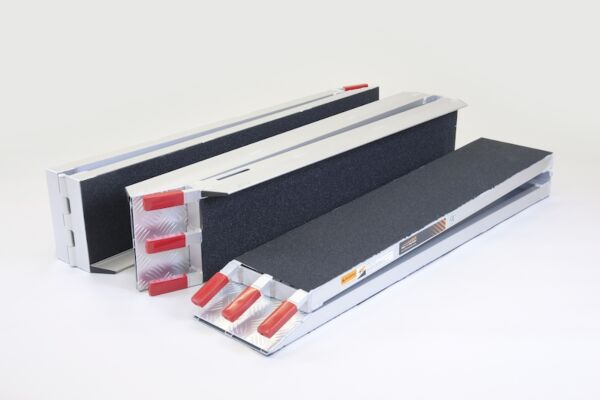 Set of three scooter ramps with grip surface