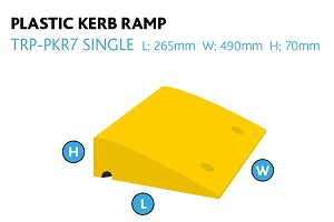 portable wedge container plastic ramp