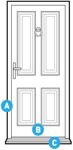 modular door plate connectors