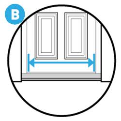 width of door opening